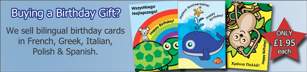 We Sell Bilingual Birthday Cards!