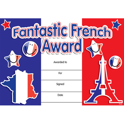 Http Www Little Linguist Co Uk French Motivational Rewards French Merit Certificates Fantastic French Award Html