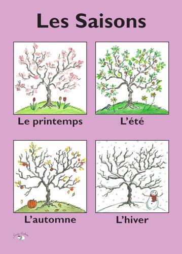 Poster Les Saisons Little Linguist