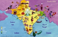 Map of South Asia Poster