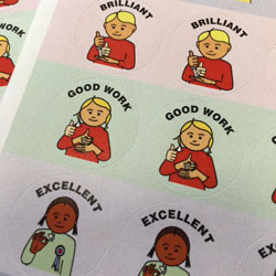 British Sign Language Merit / Reward Stickers (Pack of 280)