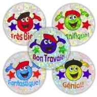 French Reward Stickers - Sparkling Characters (Mixed Pack of 125)