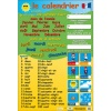 Le Calendrier (French Calendar & Numbers Poster)