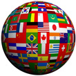 International Flag Globe