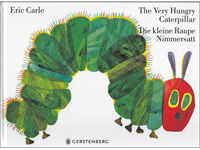 The Very Hungry Caterpillar in German and English