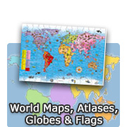 World Maps, Atlases, Globes & Flags