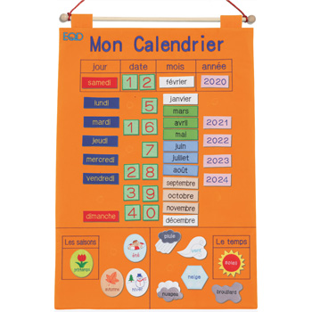 Mon Calendrier - French Fabric Calendar