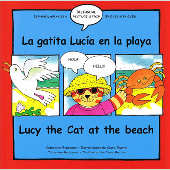 Lucy Cat at the Beach / La Gatita Lucía en la Playa