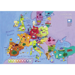 Talking European Union Map / Poster