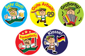 German Reward Stickers (Mixed Pack of 125)