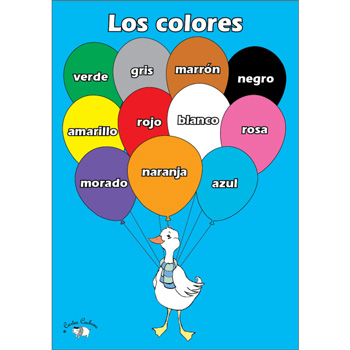 Spanish Vocabulary Poster: Los colores (A3)