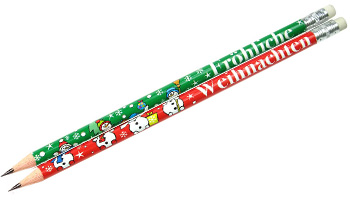 German Christmas Pencils - Fröhliche Weihnachten (Pack of 12)