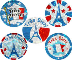 French Reward Stickers - Sparkling  (Mixed Pack of 125)