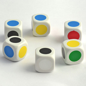 Dice - Colours (Set of 6)