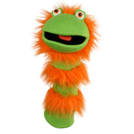 Sockette Glove Puppet - Ginger (Green / Orange)