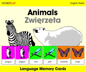 Language Memory Cards – Animals (Polish - English)