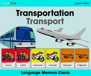 Language Memory Cards – Transport (Polish - English)