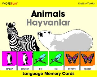 Language Memory Cards – Animals (Turkish - English)