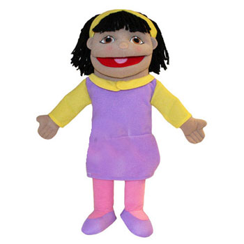 Puppet Buddy - Small Girl (Olive Skin)