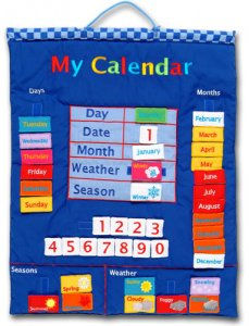 My Calendar - English Fabric Calendar (Blue)