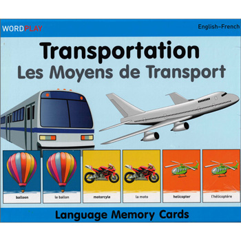 Language Memory Cards – Transport (French - English)