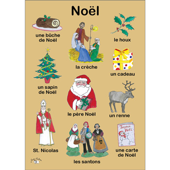 French Vocabulary Poster: Noël (A3)