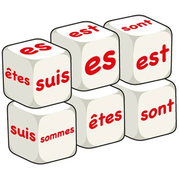 French Word Dice - Être (Set of 6)