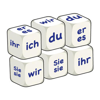 German Word Dice - Pronouns (Set of 6)