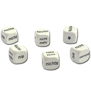 Dice - German Negatives (Set of 6)