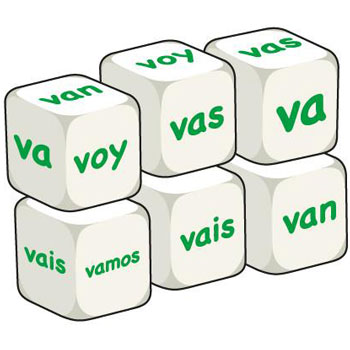 Spanish Word Dice - Ir (Set of 6)