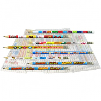 Spanish Reward Pencils - Bumper Value Pack (96 Pencils)