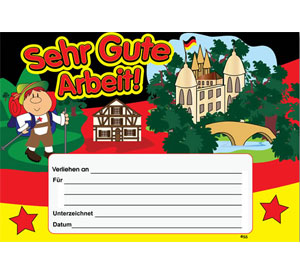 German Merit Certificates (Pack of 20) - Sehr Gute Arbeit