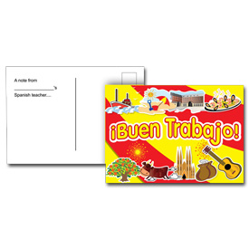 Spanish Reward Postcards - ¡ Buen Trabajo ! (Pack of 20)