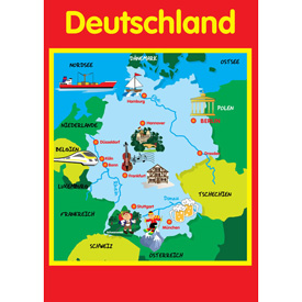 Map of Germany - A2 Poster