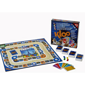 KLOO French Games - Race to Paris Board Game