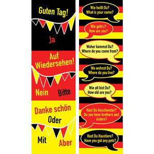 German Bookmarks - German Phrases (Pack of 20)
