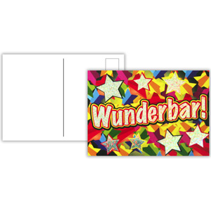German Reward Postcards - Sparkling Wunderbar (Pack of 20)