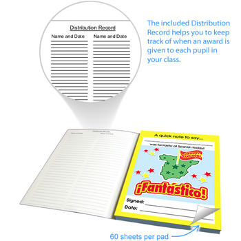 Spanish Reward Notepad - ¡Fantástico! (60 sheets)