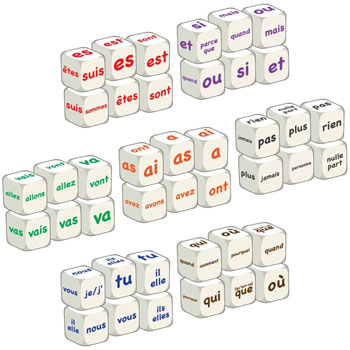 French Word Dice - Class Set