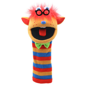 Sockette Glove Puppet - Humphrey (Orange / Blue / Red)