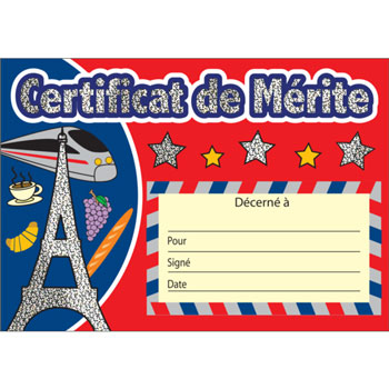 French Merit Certificates  - Sparkling (Paris Icons)