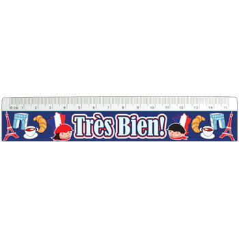 French Reward Rulers : Très Bien! Paris Icons (Pack of 12)