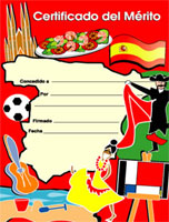 Spanish Merit Certificates (Pack of 20) - Portrait