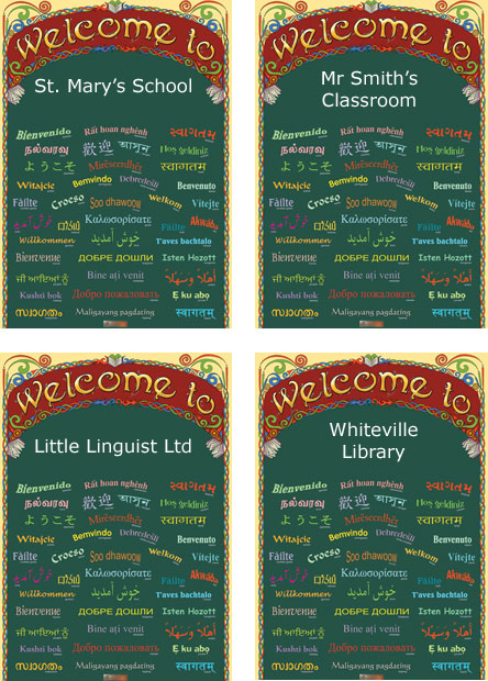 Sample Welcome Posters