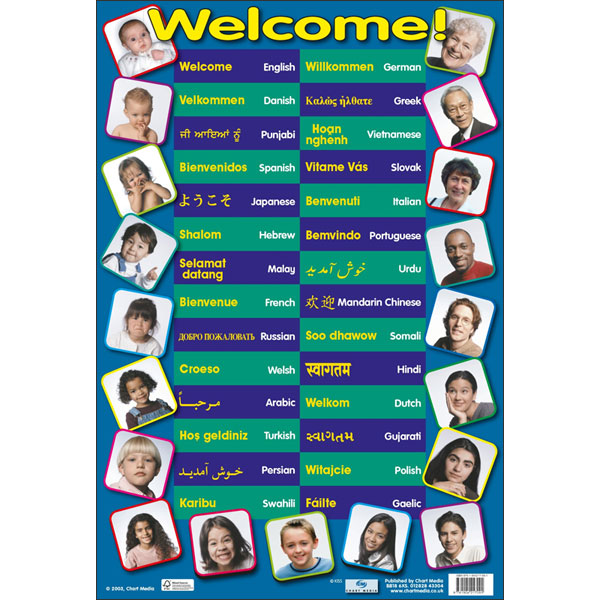 Multilingual Welcome Poster Little Linguist