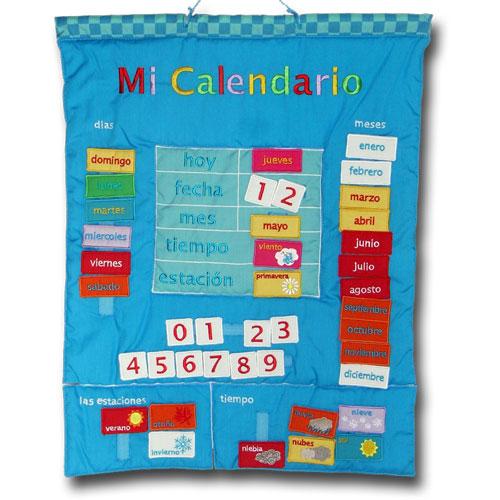 Calendario 1974.Mi Calendario Spanish Fabric Calendar
