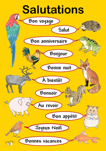 Poster salutations little linguist poster a3 salutations m4hsunfo Choice Image