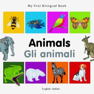Bilingual Book in English and Italian: Monkey