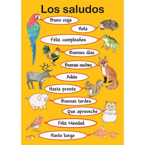 Poster a3 los saludos greetings poster in spanish little poster a3 los saludos altavistaventures Images