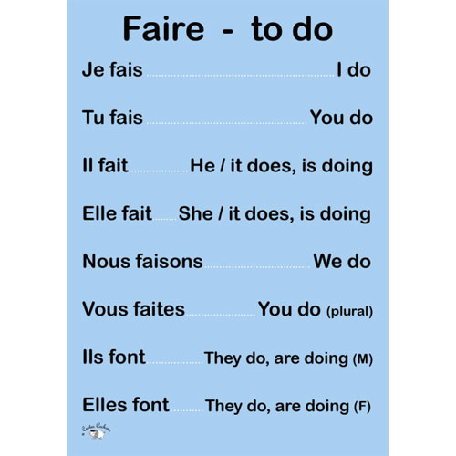 French Verb Poster - Faire - Little Linguist